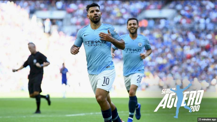 Sergio Aguero Mencetak Gol ke-200 Untuk Manchester City